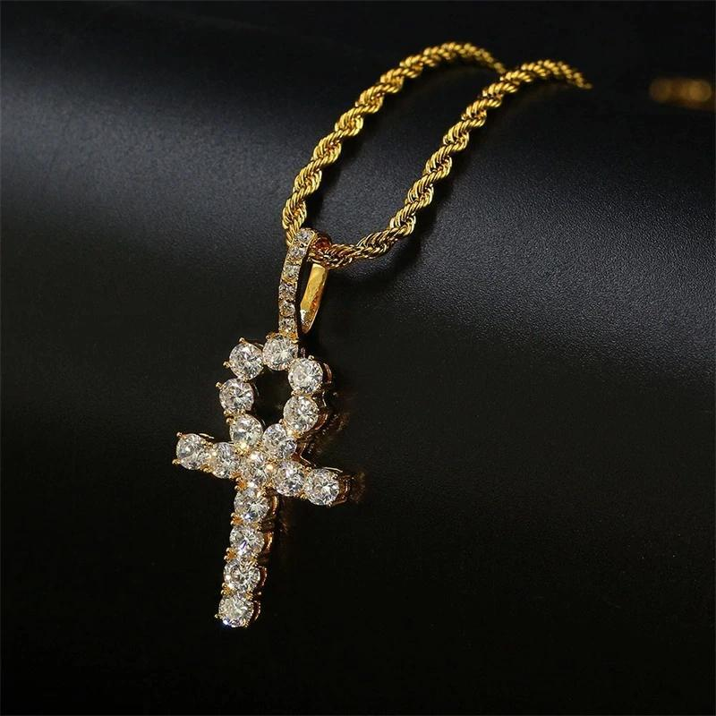 ANKH KEY PENDANT YELLOW GOLD PLATED