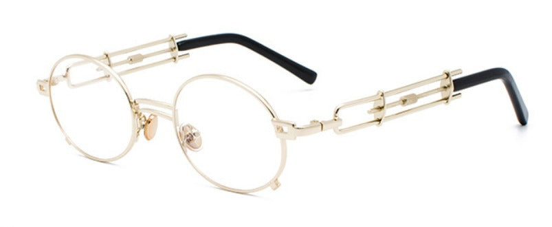 STRAP SUNGLASSES (GOLD-CLEAR LENS)