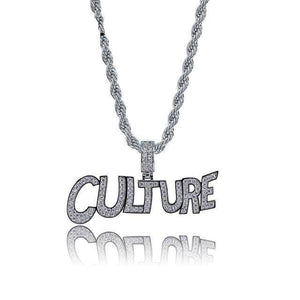 CULTURE WHITE GOLD PLATED PENDANT (by MIGOS )