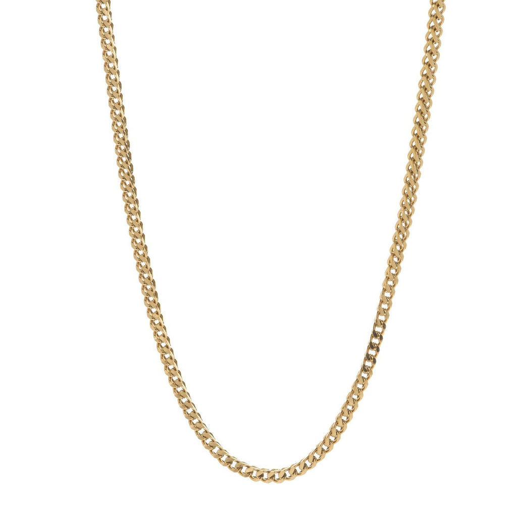 3MM GOLD FRANCO BOX CHAIN