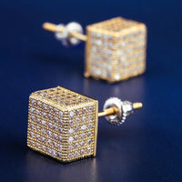 ICED CUBIC EARRINGS IN 18K GOLD