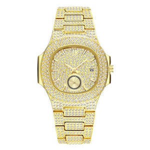 18K YELLOW GOLD PLATED CHRONOGRAPH WATCHES