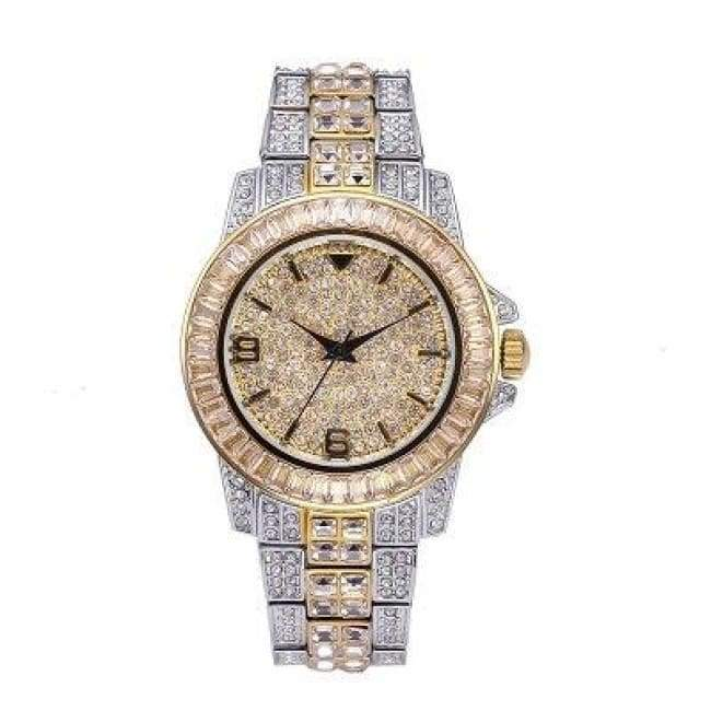 BAGUETTE Cz WATCH IN 2-TONE
