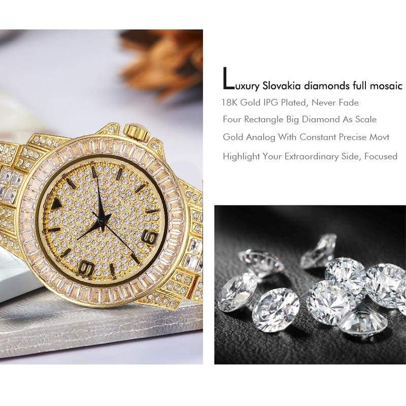 103d7b2d3a BAGUETTE DIAMOND SIMULATED ICED OUT WATCHES – Rkscart