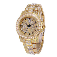 BAGUETTE Cz WATCH IN YELLOW GOLD
