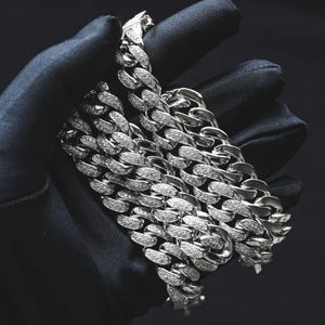 12MM CZ CUBAN LINK CHAIN IN 18K WHITE GOLD