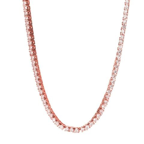 3MM TENNIS CHOKER ALLOY ROSE GOLD PLATED