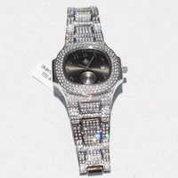 PRESIDENTIAL WATCH IN 18K WHITE GOLD WITH CZ DIAMOND