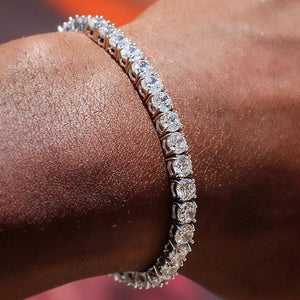 S925.SOLID SILVER 4MM CZ DIAMOND TENNIS BRACELETS