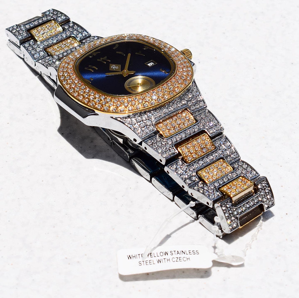 PRESIDENTIAL WATCH IN 2-TONE WITH CZ DIAMOND
