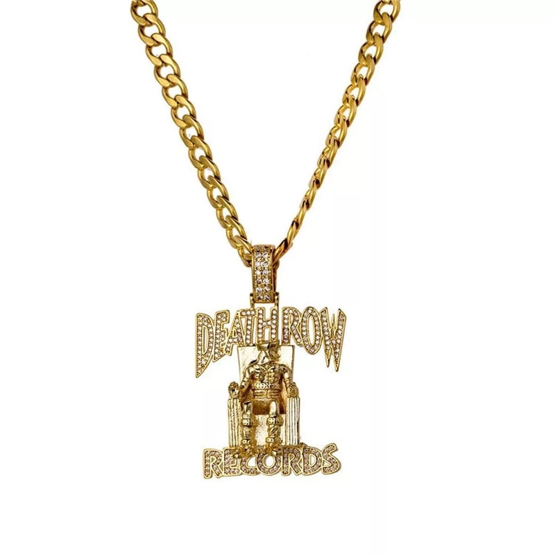 DEATH ROW RECORDS 18K CZ PENDANT