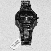 PRESIDENTIAL WATCH IN BLACK NANO GEMSTONES
