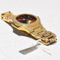 PRESIDENTIAL WATCH IN 18K GOLD WITH CZ DIAMOND
