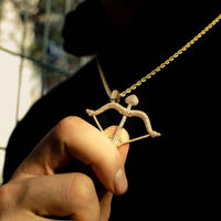 BOW & ARROW PENDANT IN YELLOW GOLD