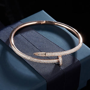 SOLID S925 SILVER JUST UN CLOU BANGLES IN ROSE GOLD