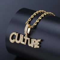 CULTURE YELLOW GOLD PLATED PENDANT (by MIGOS )