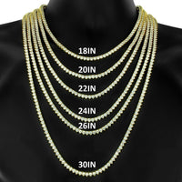 3MM TENNIS CHOKER ALLOY YELLOW GOLD PLATED
