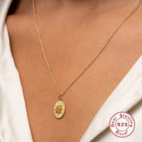 ASTROLABE SUN PENDANT CHAIN S925 SILVER IN 18K GOLD