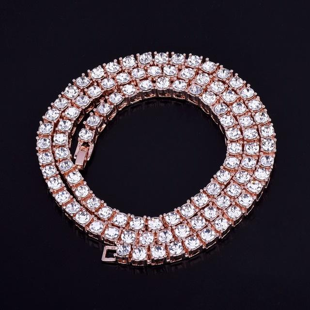 TENNIS CHAIN ALLOY ROSE GOLD PLATED