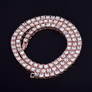 3MM TENNIS CHAIN ALLOY ROSE GOLD PLATED