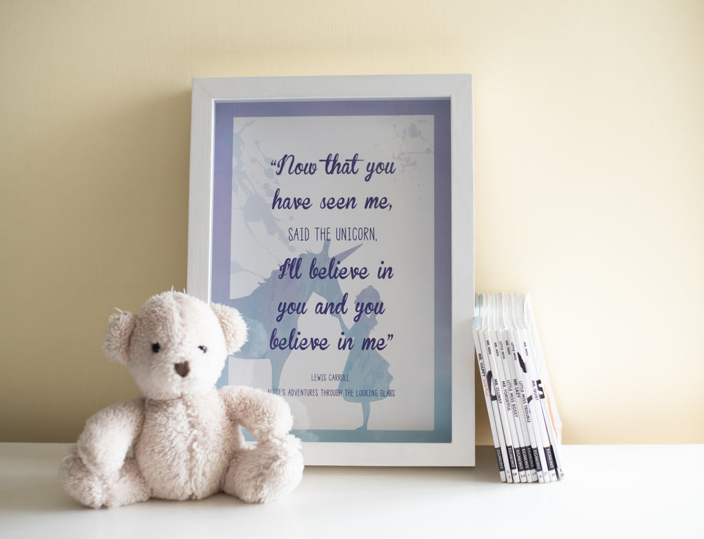 Framed Lewis Carrol Quote Print