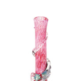 Medium w. Dichro Wrap Softglas Bong (Rosa)