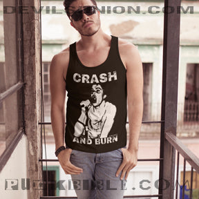 (DARBY) CRASH AND BURN Unisex Tank Top
