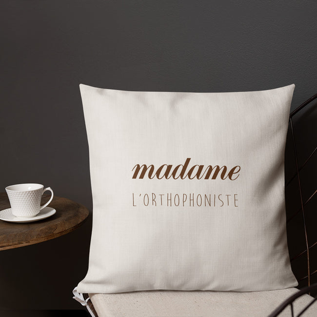 Coussin madame Orthophoniste