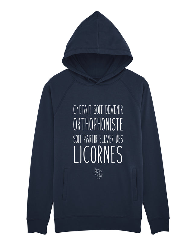 Sweat capuche Licorne