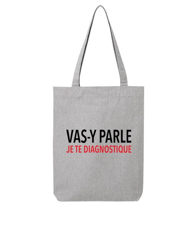 Tote bag Je te diagnostique