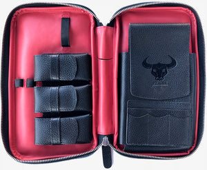 Metcalf USA Luxury Cigar Case - Black/Red