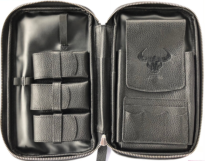 Metcalf USA Luxury Cigar Case - Black/Black