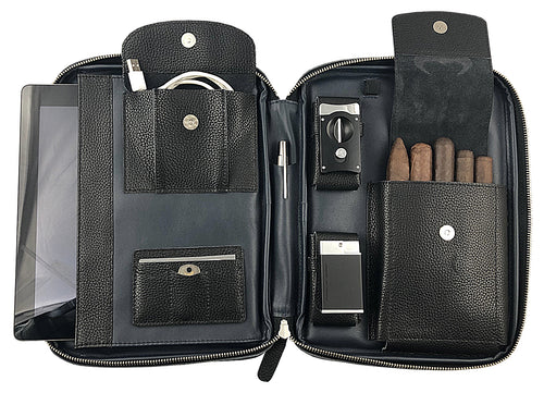 Metcalf USA Luxury Tablet Cigar Case - Black/Blue