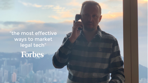 hong kong skyline, vito glazers on telephone, forbes logo