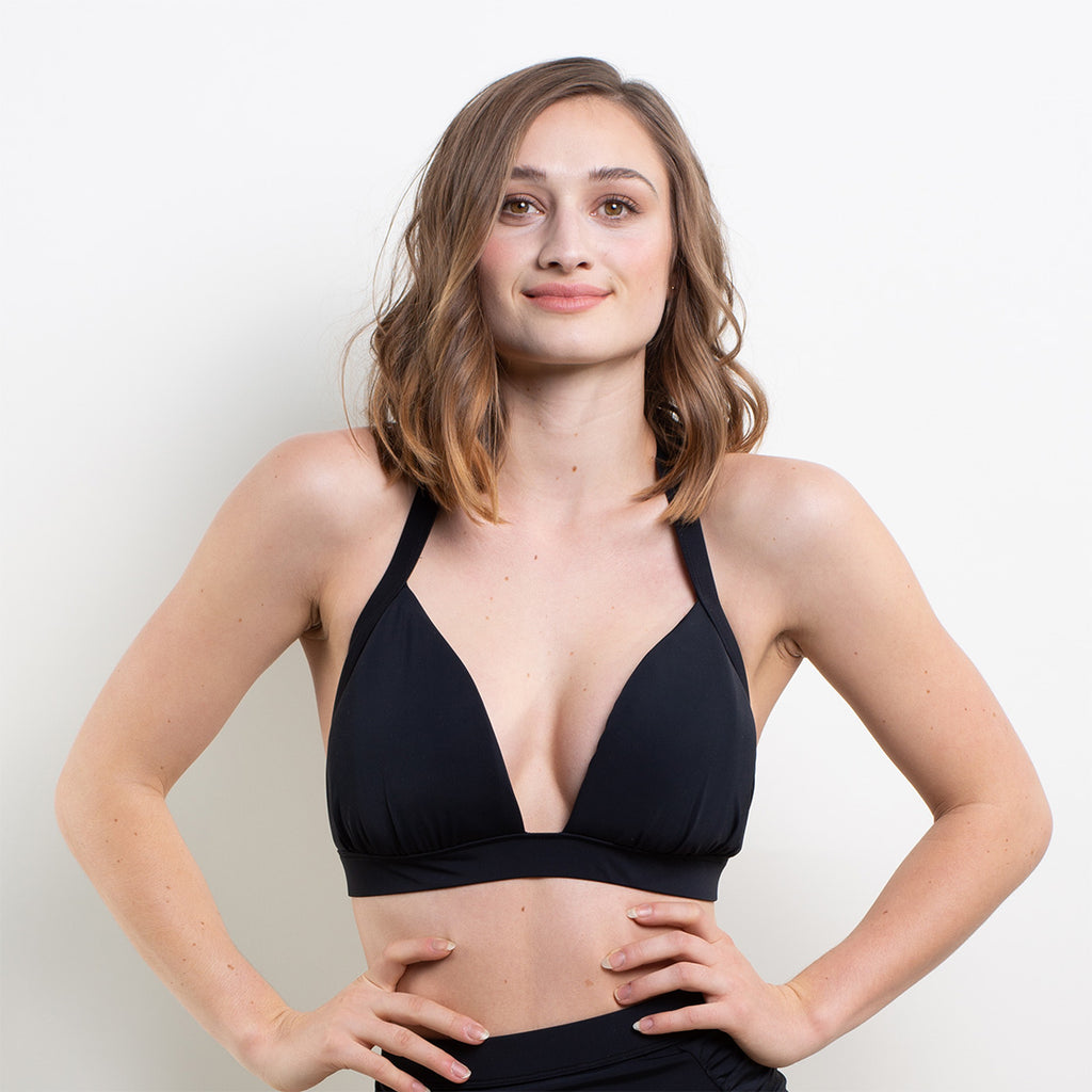 Marilyn Triangle Bikini Top Black