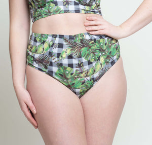 Suzette Cheeky High Waisted Bottom Tropical Gingham