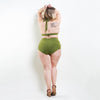 Marilyn Triangle Bikini Top Green