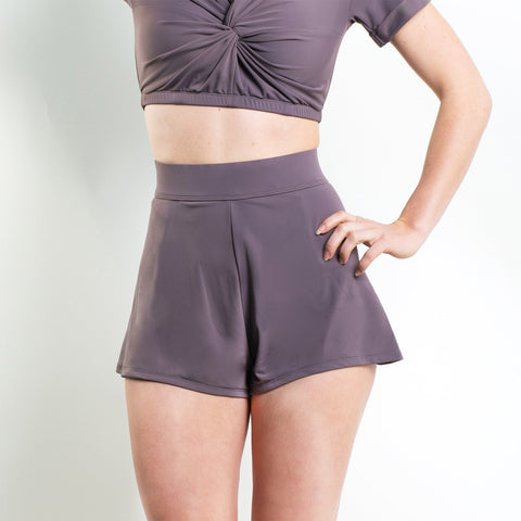 Ellanora Cross Front Halter Top Purple
