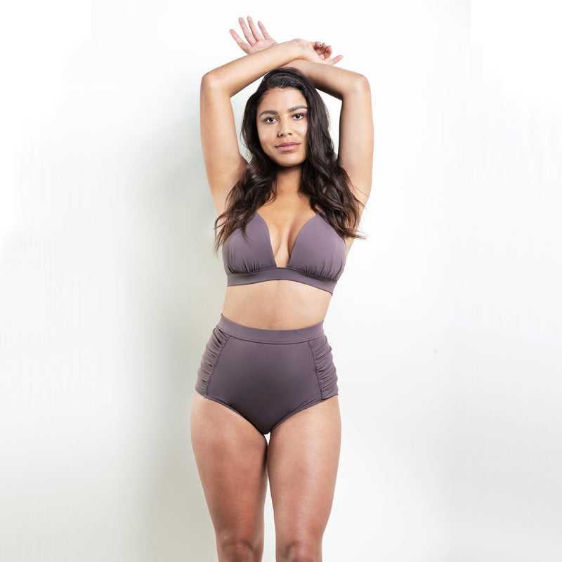 Marilyn Triangle Bikini Top Purple