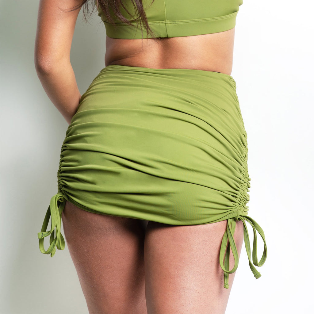 Ellanora Wrap Skirt Green