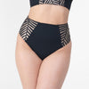 Suzette Cheeky High Waisted Bottom Black