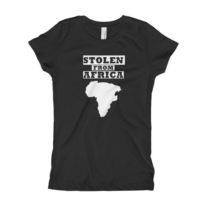 Ladies Stolen From Africa tee (Black)