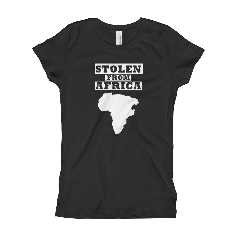Womans Stolen From Africa T-Shirt  (Black)