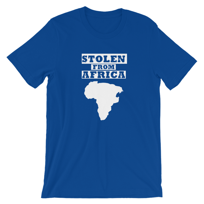 Stolen From Africa -Caribbean Blue T-shirt