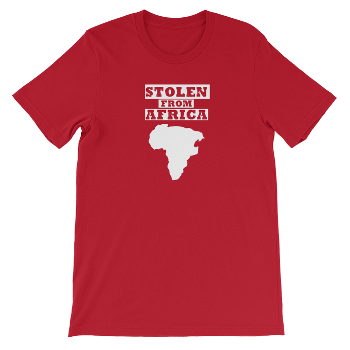 Stolen From Africa T-shirt- Red