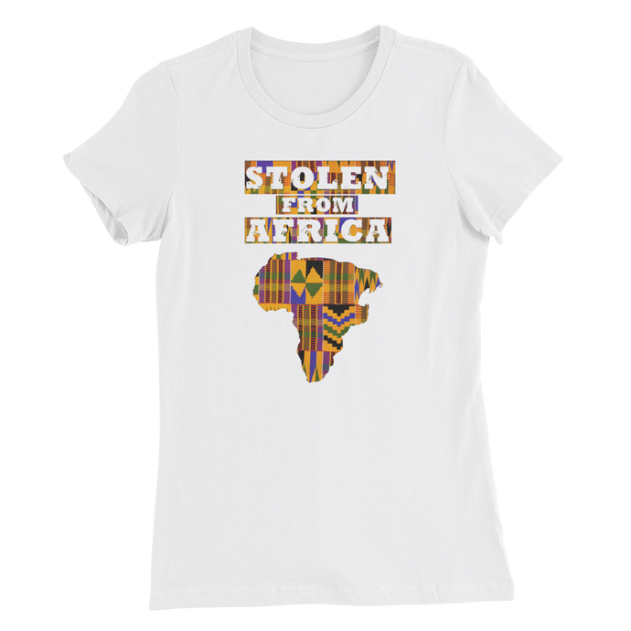 Stolen From Africa T-shirt Womans (Kente Print)