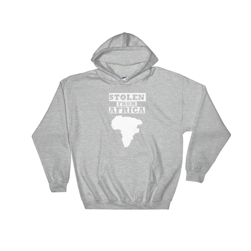 Stolen From Africa Hoodie - (Light grey)