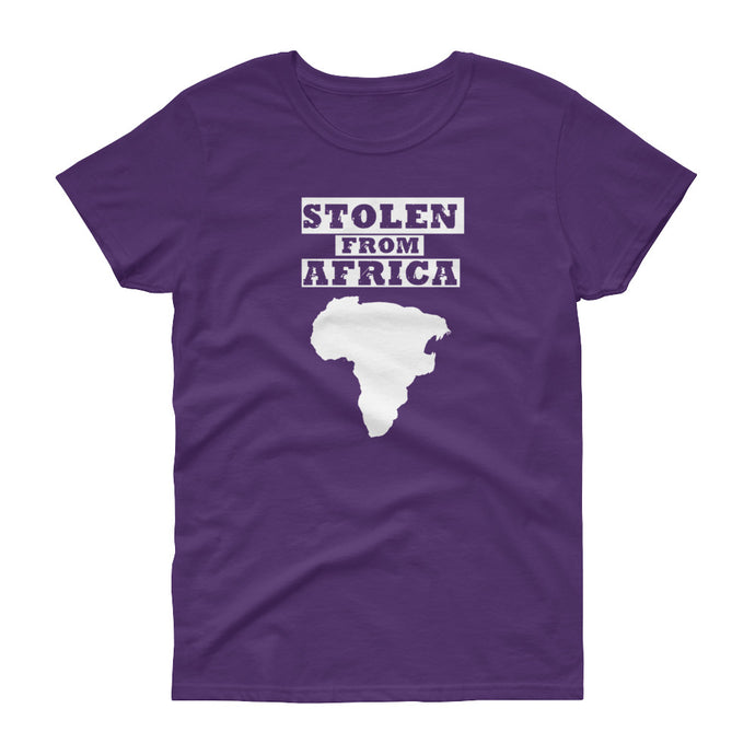 Stolen From Africa -Ladies T-shirt (Purple)