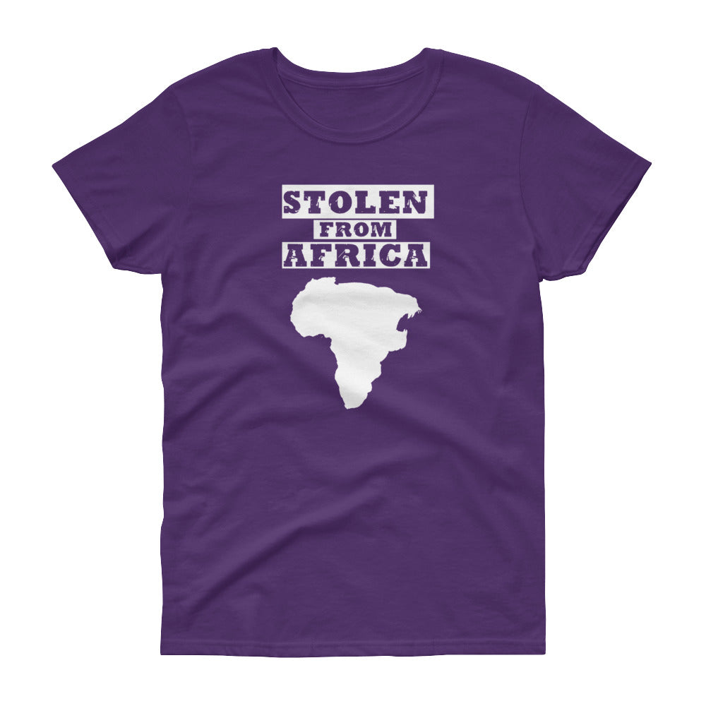Stolen From Africa - t-shirt - Womans (Purple)