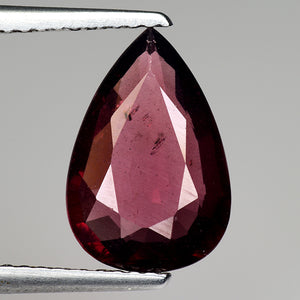 2.85 carats natural pinkish red colour rhodolite garnet pear shape 11 x 8 mm